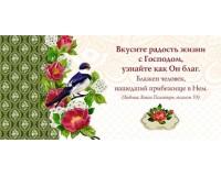 Конверт Вкусите радость жизни с Господом, арт.705106